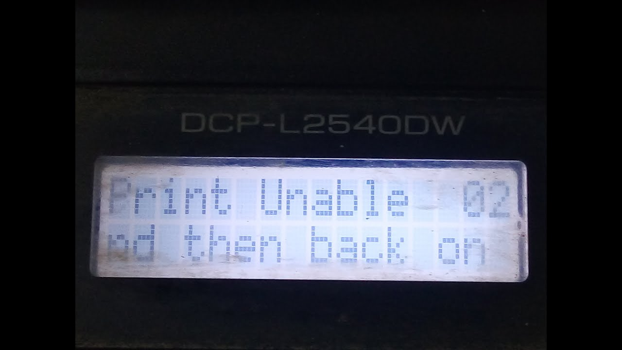 Print Unable 02 in Brother Printer