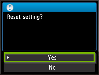 Make the factory reset